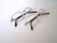 SILVER AND GOLD COLOR FAME UNISEX REAL GLASS LENS READING GLASSES 2 PAIRS +1.50