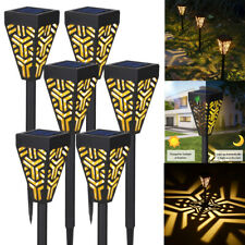 6Pcs LED Solar Landscape Lamps Light Outdoor Yard Pathway Decor Waterproof K2Q3