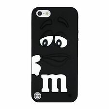 GOMMA IN SILICONE NERO M&M Back Case Cover Skin per iPod Touch 5