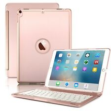 For New iPad Pro 10.5 Keyboard Case Slim Hard Shell Folio Smart Cover Rose Gold