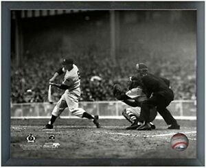 """Mickey Mantle New York Yankees 1951 MLB Action Photo (Size: 12"""" x 15"""") Framed"""