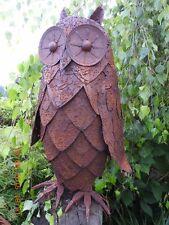 Edelrost Eule Rost Eisen Metall Garten Skulptur Bauernhof Tiere Deko Dekoration