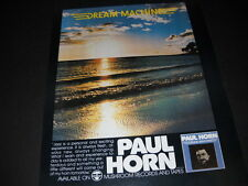 PAUL HORN 1978 Promo Poster Ad from DREAM MACHINE mint condition