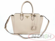 BID! UNWORN! AUTHENTIC $1795 PRADA 1BA189 Saffiano Soft Calf Cipria Tote Bag