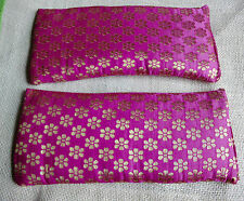 Pink Aromatherapy Eye Pillow  Organic Lavender and Flax Seed - Relax and Heal