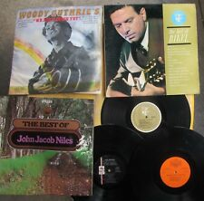 FOLK LP LOT (3): JOHN JACOB NILES, THEODORE BIKEL, JESS PEARSON Woody's Friends
