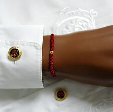 Tibet Buddhist Gold Perlen Makramee – Technik geknüpfte Armband