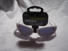Spiderwire Polarized Sport Fishing Sunglasses, Glass white frame, blue mirror