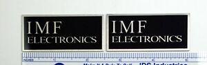IMF Electronics Speaker Badge Logo Custom Made Aluminum PAIR