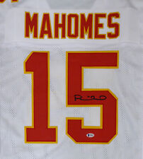 CHIEFS PATRICK MAHOMES AUTHENTIC AUTOGRAPHED SIGNED WHITE JERSEY BECKETT 171257