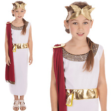 Kids Girls Greek Goddess Ancient Roman Toga Fancy Dress Costume Book Week New