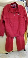 CATALINA LADIES RED XL NYLON ZIP UP JACKET & MATCHING PANTS **NEW WITHOUT TAGS**
