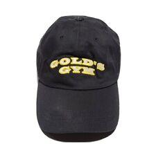 Vintage GOLDS GYM Leather Strapback Hat Bodybuilding