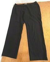 Chico's Women Black Slacks Pants Sz 2.0/ 12 Regular Super Stretch Straight Leg