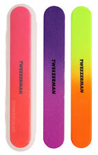 Tweezerman Neon Hot NAIL FILE Set of 3 100/180 Grit Files Emery Board/Boards