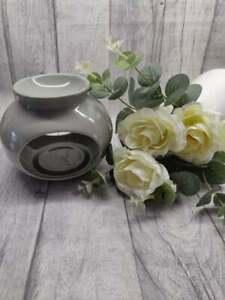 Grey Ceramic Wax Melt Oil Burner Tealight Holder Diffuser Ornament Gift Bali