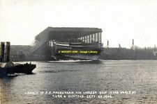 rp14058 - Launch of Cunard Liner Lusitania in 1906 - photo 6x4