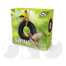 Swing Time, novelty Ceramic Bird feeder by Fred  in matching GIFT BOX