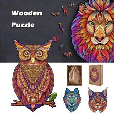 New Wooden Animal Jigsaw Puzzle Set Decompression Educational Toys For Adults