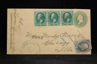 Iowa: Crete 1883 Registered Cover, SCARCE DPO Appanoose Co