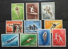 SAN MARINO # 582-591. 18th OLYMPIC GAMES. MNH