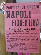 Football Calcio Manifesto Partita Napoli-Fiorentina 24/04/1966 Stadio San Paolo
