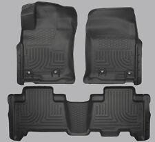 13-16 Toyota 4Runner Husky Liner WeatherBeater Floor Liners Mats Black 3pc 99571