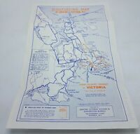 Vtg. 1935 Sightseeing Map of Greater Victoria BC Canada