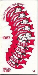 1987 CINCINNATI REDS MLB MEDIA GUIDE VINTAGE FREE SHIPPING