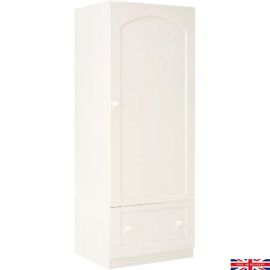 Single Door Wardrobe Mothercare Marlow With 1 Drawer White Style:KB945