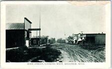 KELLEHER, Minnesota  MN   MAIN STREET Scene looking West  1909  Postcard
