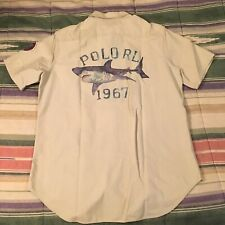 POLO RALPH LAUREN 2003 Florida Shark Button Camp Shirt MEDIUM