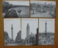 Set of 6 x Unused Vintage B/W Postcards - VIEWS of LONDON - W. Straker Ltd VGC