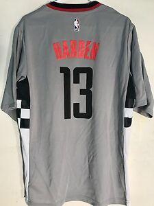 Adidas NBA Jersey Houston Rockets James Harden Grey Short Sleeve sz L