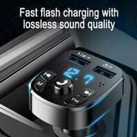 Bluetooth Car Kit Wireless FM Transmitter USB Charger Adapter MP3 Player d d a
