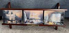 New Listing1997 Thomas Kinkade Holiday Memories Christmas Plates and Display Shelf