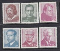 DDR24 - EAST GERMANY DDR 1973 FAMOUS PEOPLE MNH