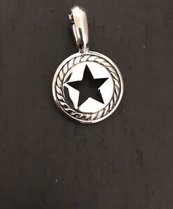David Yurman sterling silver silver lone star pendant