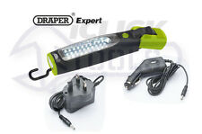 Draper 43113 Expert Green 37 LED Rechargeable Magnetic Inspection Lamp/Torch