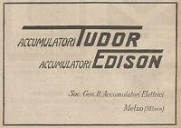 Z0718 Accumulatori Edison - Melzo - Pubblicità del 1925 - Advertising