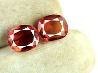 Orange Spinel Burmese Gemstone Pair 16 Ct 100% Natural Oval Cut AGSL Certified