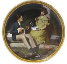 Norman Rockwell Rediscovered Women Collection Pondering On The Porch Plate Coa