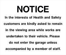 MOT Garage Health and Safety Do Not Enter Safety Rigid Sign 400mm x 400mm C8QG