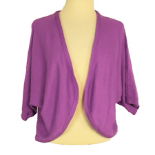 Woman Within Women 18 20 Dolman Shrug Sweater Fitted Cotton Blend Open SS Purple