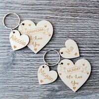 Personalised Mothers Day Gift Wooden Keyring Gift for Mum Mummy Nanny Nanna Ply