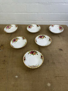 Royal Albert 'Old Country Roses' Set Of 6 Dessert / Fruit Dishes