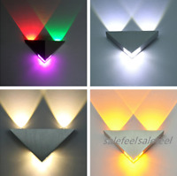 3W Triangle LED Wall Sconces Light Fixture Bedroom Hotel Canteen DIY Wall Lamp