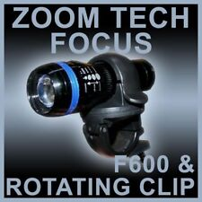 Zoom Tech Focus LED Torch 200 Lumens Plus Rotating Bike Clip