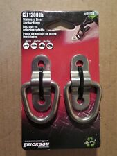 2 Stainless Steel Surface-Mount Tie-Down Anchor D-Ring 1200 lbs