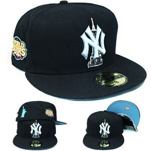New Era New York Yankees Navy Fitted Hat Empire State & Stature of Liberty Patch